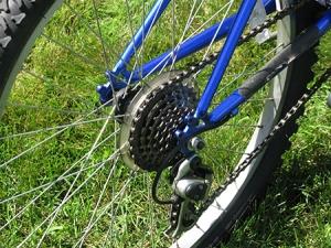 Una llanta de una bicicleta